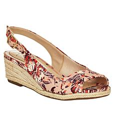 """As Is"" LifeStride Socialite Wedge Slingback Sandal"