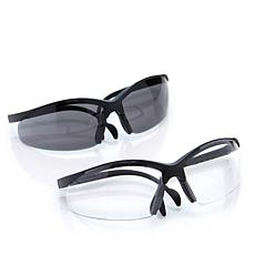 """""""As Is"""" Magna Tools 2-pack Safety Glasses with Storage Pouch"""