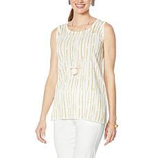 """""""As Is"""" MarlaWynne Brushstroke Print Sweater Knit Tank"""