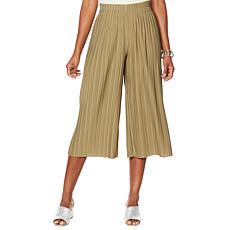 """""""As Is"""" MarlaWynne Pleated Wide-Leg Cropped Pant"""