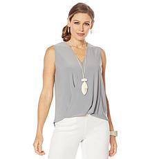 """As Is"" MarlaWynne Sleeveless Twist Top"