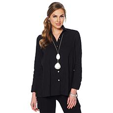 """""""As Is"""" MarlaWynne Textured Butterfly Button Down Shirt"""