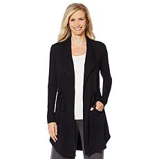 """""""As Is"""" ModernSoul® Luxe French Terry Tie-Front Jacket with Pockets"""
