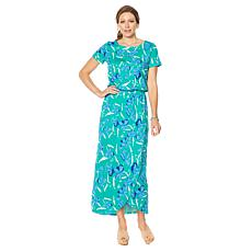 """As Is"" Motto Courageous Cotton Tulip-Hem Maxi Dress"