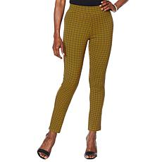 """""""As Is"""" Motto Ponte Knit Pull-On Ankle Pant - Print/Solid"""