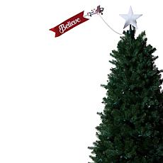 """""""As Is"""" Mr. Christmas Animated Santa in Biplane with Banner Tree To..."""