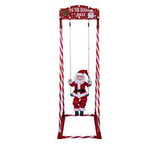 """As Is"" Mr. Christmas Indoor/Outdoor 54"" Swinging Santa"