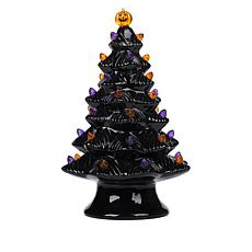 """As Is"" Mr. Halloween Nostalgic Ceramic Halloween Tree with 4-Hour ..."