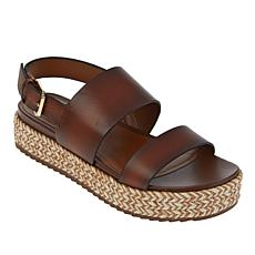 """As Is"" Naturalizer Patience Espadrille Jute-Wrapped Flatform Sandal"