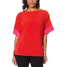 """As Is"" Nina Leonard Miracle Matte Jersey Dolman Sleeve Top"