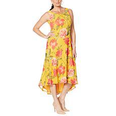 """As Is"" Nina Leonard Sleeveless Printed Power Mesh Dress"