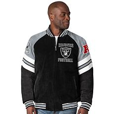 """As Is"" Officially Licensed NFL Colorblocked Suede Jacket by Glll"