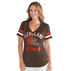 """""""As Is"""" Officially Licensed NFL Women's Extra Point Bling Tee by Gl..."""