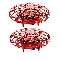 """""""As Is"""" Orbital UFO Hand-Controlled Aircraft Drones 2-pack"""