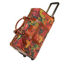 """As Is"" Patricia Nash Avola Coated Canvas Trolley Duffle Bag"