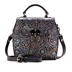 """As Is"" Patricia Nash Brionne Coin-Tooled Leather Crossbody Bag"