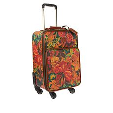 """As Is"" Patricia Nash Coated Canvas Vettore Wheeled Trolley Bag"