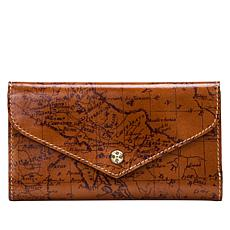 """""""As Is"""" Patricia Nash Cori Leather Envelope Wallet  with RFID Prote..."""