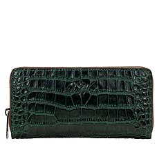"""""""As Is"""" Patricia Nash Lauria Zip-Around Leather Wallet  with RFID  ..."""