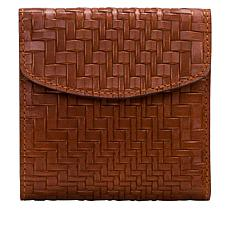 """""""As Is"""" Patricia Nash Reiti Leather Frame Wallet with RFID  Protection"""
