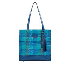 """As Is"" Patricia Nash Ribbon & Raffia Toscano Tote"