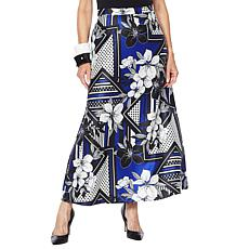 """As Is"" Rara Avis by Iris Apfel Floral Print Maxi Skirt"
