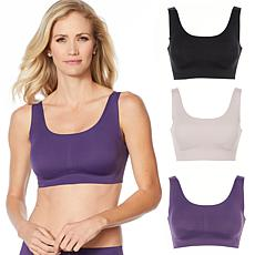 """""""As Is"""" Rhonda Shear 3-pack Invisible Body Bra with Removable Pads"""