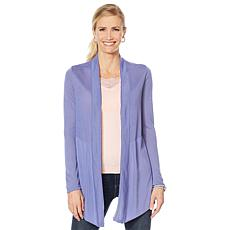 """As Is"" Rhonda Shear Crochet Back Cardigan"
