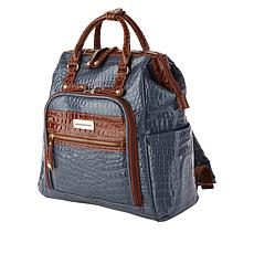 """As Is"" Samantha Brown Embossed Backpack"