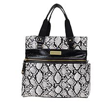 """As Is"" Samantha Brown Embossed Metro Tote"