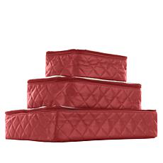 """As Is"" Samantha Brown Quilted Packing Cubes 3-piece Set"