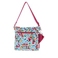 """""""As Is"""" Samantha Brown To-Go Zip-Front Crossbody"""
