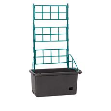 """""""As Is"""" Self-Watering Mobile Veggie Patch with Trellis"""
