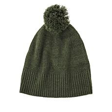 """As Is"" Skinngirl Marled Knit Pompom Hat"