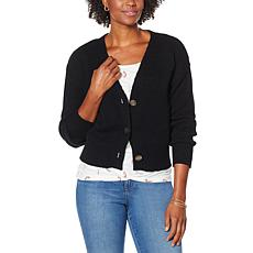 """""""As Is"""" Skinnygirl Camden Button-Front Cropped Cardigan"""