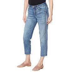 """""""As Is"""" Skinnygirl Celeste Crystal Stripe Straight Jean"""