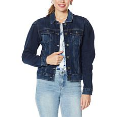"""As Is"" Skinnygirl Donna Puff-Sleeve Jean Jacket"