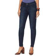 """""""As Is"""" Skinnygirl Empower Stretch Mid-Rise Jean - Basic"""