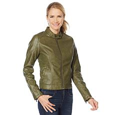 """""""As Is"""" Skinnygirl Faux Leather Moto Jacket"""