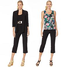 """As Is"" Slinky® Brand 4-piece Set - Jacket, 2 Tanks and Crop Pant"
