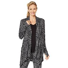 """""""As Is"""" Soft & Cozy Cascading Wrap with Thumbhole Cuffs"""