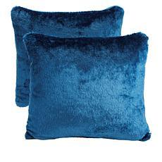 """As Is"" Soft & Cozy Faux Fur Pillow 2-pack"