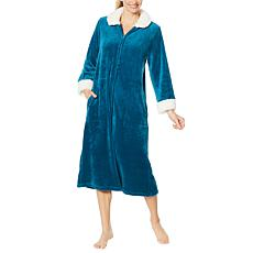 """As Is"" Soft & Cozy Super Soft Style & Comfort Zip-Front Robe"