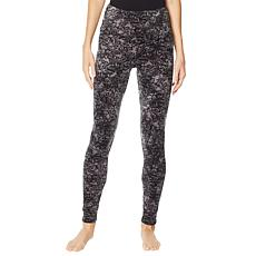 """""""As Is"""" Soft & Cozy Velour High-Rise Legging with Curved Yoke"""