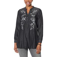 """""""As Is"""" SoftCell by Diane Gilman Embroidered Tunic"""