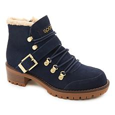 """As Is"" Sporto® Katie Waterproof Suede Lace-Up Boot"