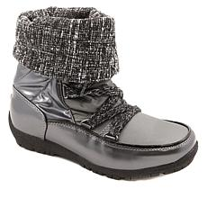 """As Is"" Sporto® Knit Me Waterproof Cuffed Boot"