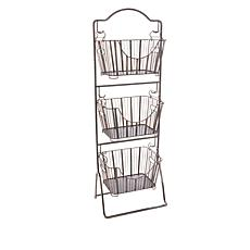 """As Is"" StoreSmith 3-Tier Storage Market Baskets with Stand"