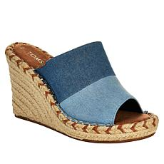 """As Is"" TOMS Monica Mule Wedge Sandal"