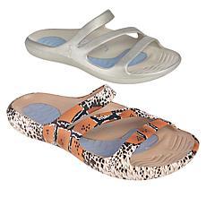 """As Is"" Tony Little Cheeks® 2-pack Slide Health Sandal"